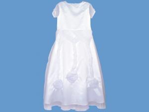 Biała satynowa sukienka Kryształowa różyczka (2) art.513 - MN-24-10-25-513