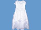 Biała satynowa sukienka Kryształowa różyczka (2)