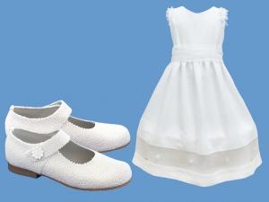 Zestaw do komunii dla dziewczynki art. 0811 - Zestaw komunia 353  - pantofelki