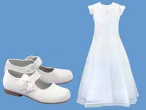 Zestaw do komunii dla dziewczynki  art. 0812 - Zestaw komunia 701  - pantofelki