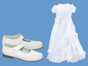 Zestaw do komunii dla dziewczynki art. 0814 - Zestaw komunia 721  - pantofelki