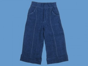 Lniane granatowe spodnie  Morska Przygoda art. 956(ko) - 896