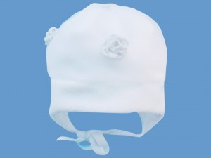 Polarowa biała czapeczka Śnieżynka art. 001a - MN-03-02-3-001