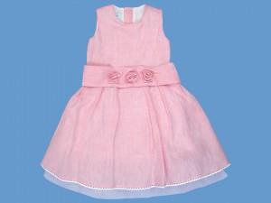 Lniana różowa sukienka Różyczka (2) art. 146 - MN-04-01-1-146
