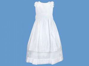 Satynowa sukienka do komunii Biała Orchidea art. 352 - MN-10-02-352