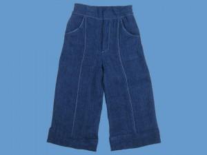Lniane granatowe spodnie  Morska Przygoda art. 956 - MN-14-06-956