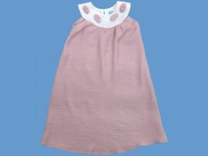 Lniana sukienka Różowy kamyczek art. 961 - MN-2010-lato-961