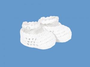 Ażurowe buciki Biała śnieżynka 57077-4 - C-57077-4