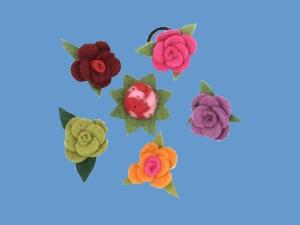 Gumka do włosów Różyczka art.2003 - Różyczka ozdoba art.2003