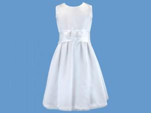 Sukienka do komunii Różyczka satynowa art. 471 - MN-05-02-1-471