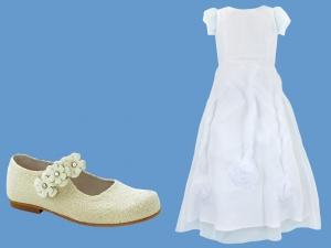Zestaw do komunii dla dziewczynki art. 0815 - Zestaw komunia 512  - pantofelki