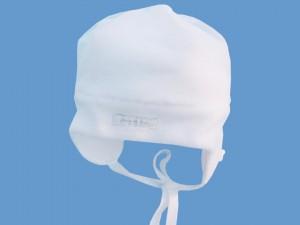 Polarowa biała czapeczka Zimowy Ogród art. 002a - MN-03-02-3-002