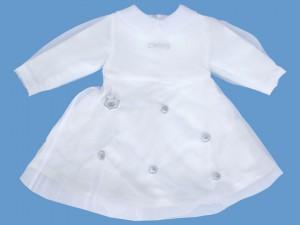 Polarowa biała sukienka Magiczna Planeta art. 004 - MN-03-02-1-004