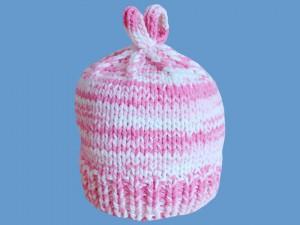 Robiona na drutach czapeczka Różowa Chmurka art. 222 - MN-04-02-3-222