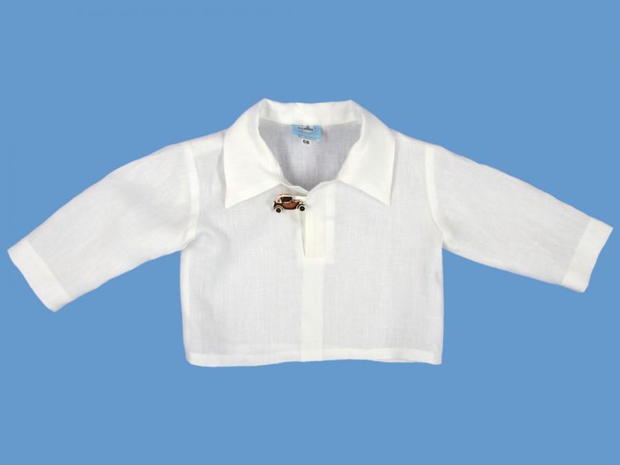Lniana biała koszula Pan Samochodzik art. 166 - MN-04-01-1-166