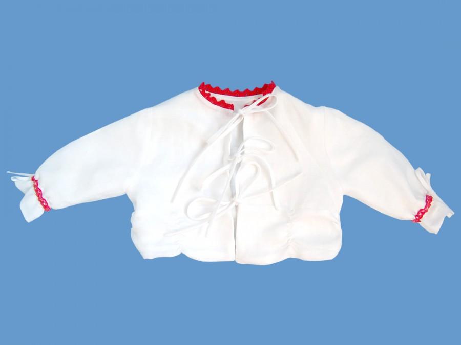 Białe lniane bolerko Coccinela art. 134b - MN-04-01-4-134
