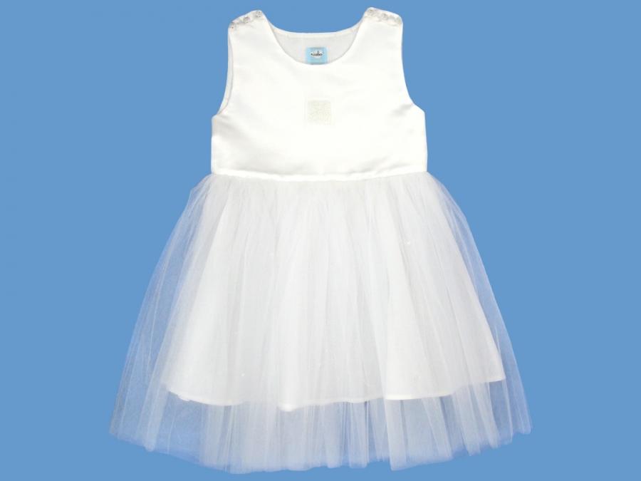 Lniana biała sukienka Poranna Rosa (1a) art. 132 - MN-04-01-1-132