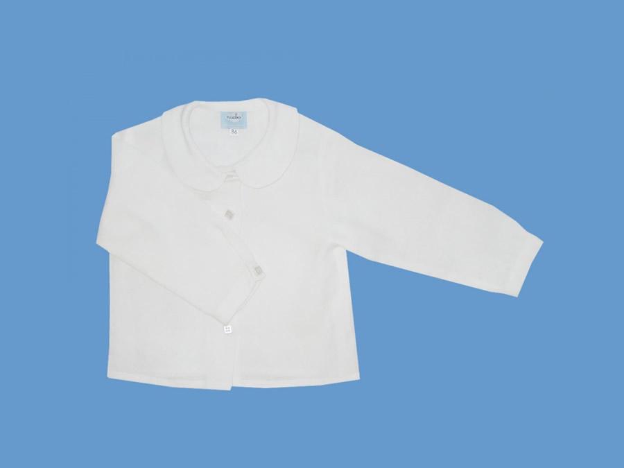 Lniana bluzeczka Biała chmurka art. 026 - MN-04-02-1-026