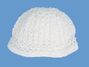 Ażurowa czapeczka Poranna Rosa (1) art. 024 - MN-04-02-3-024