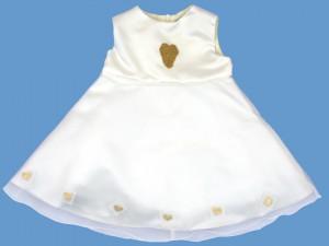 Atłasowa ecru sukienka Sercowa Szkatułka (1) art. 019 - MN-03-01-1-019