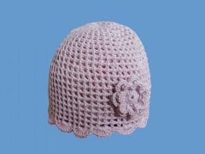 Ażurowa czapeczka W bajkowym ogrodzie art. 580a - MN-06-01-3-580
