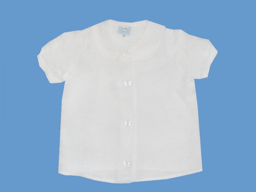 Lniana bluzeczka Tańcząca z motylami (1) art. 613 - MN-06-01-1-613