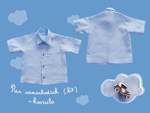 Pan samochodzik koszula (b7)  art. 554 (ko) - MN-07-02-4-1317