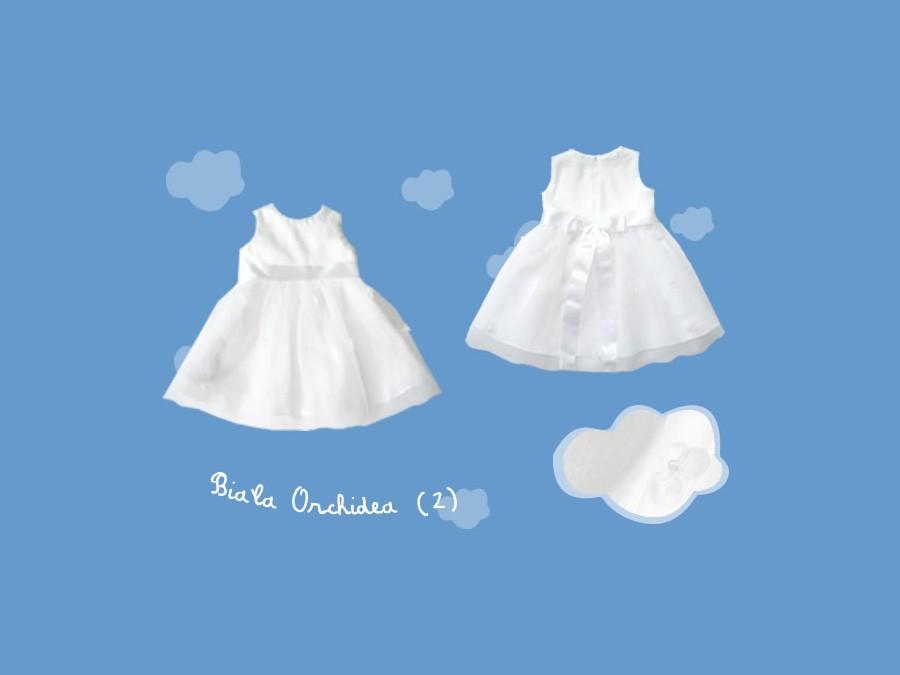 Lniana sukienka do chrztu Biała Orchidea (2) art. 719 - MN-07-01-1-1340