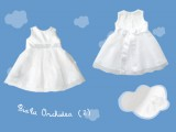 Lniana sukienka do chrztu Biała Orchidea (2) art. 719