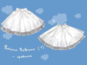 Satynowa spódnica do komunii Różana Balerina (1) art. 816 - MN-2008-01-816