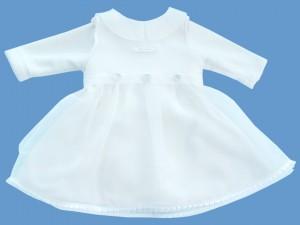 Polarowa sukienka biała Luna art. 529 - MN-08-12-1-1455