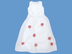 Satynowa sukienka do komunii Pączek Róży (1) art. 505 - MN-05-02-1-505