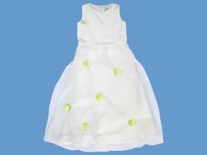Satynowa sukienka do komunii  Pączek Róży (2) art. 504 - MN-05-02-1-504